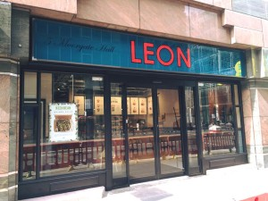 Image of Leon Restaurant Facias - Moorgate London Store - Signs manufactured and installed by Avon Signs