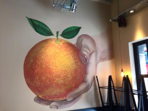 Image on wall graphic at Leon Restaurant. Production by Avon Signs