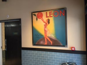Image of Canvas at Leon Restaurant . Installed by Avon Signs